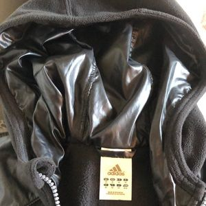 🍁Adidas Zip up hoodie - Sz M (Unisex) - All Black